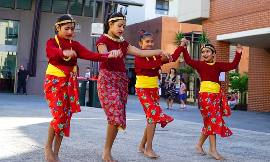 Students from ADS's Nepalese cultural dance class