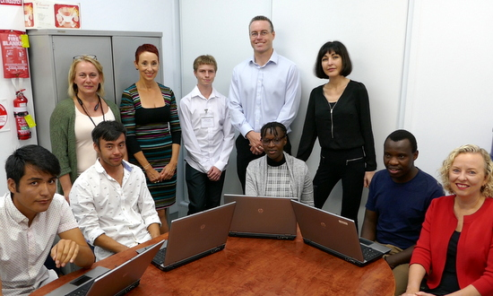 Recipients of refurbished laptops