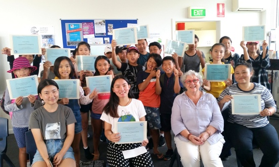 Students and tutors received certificates at the completion of Community Northern Beaches holiday maths clinic